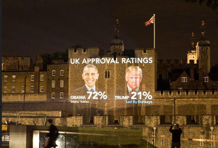 11 плакатов, показывающих отношение британцев к визиту Дональда Трампа в Англию