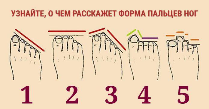 Тест: Узнайте, о чем расскажет форма пальцев ваших ног