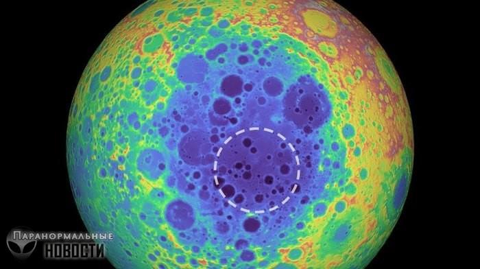 В недрах Луны скрывается загадочный металлический объект огромных размеров