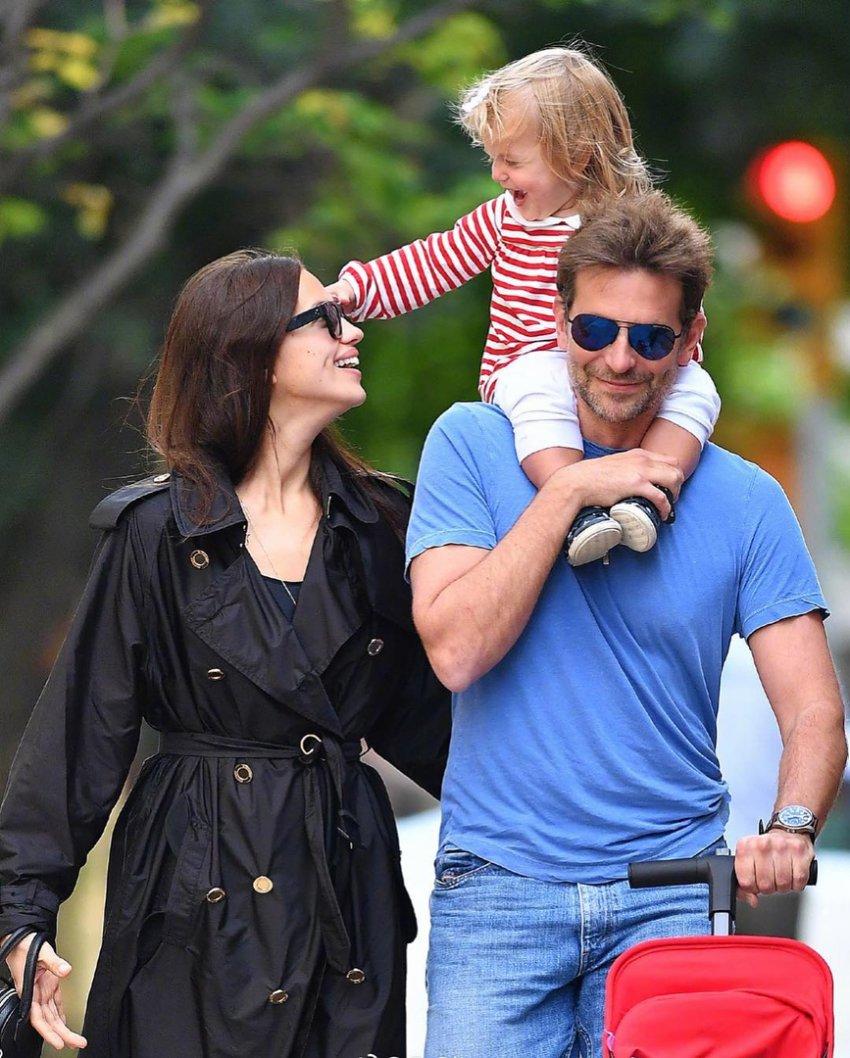 Брэдли Купер уехал с дочерью от Ирины Шейк в Лос-Анджелес