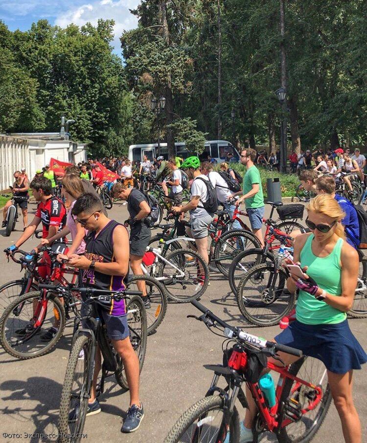 В Москве прошел велопробег «Веломагистраль-2019»