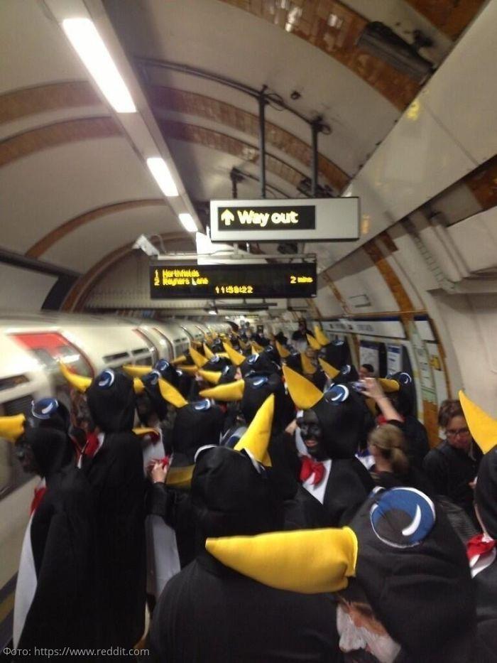 10 смешных и забавных вещей, замеченных в метро