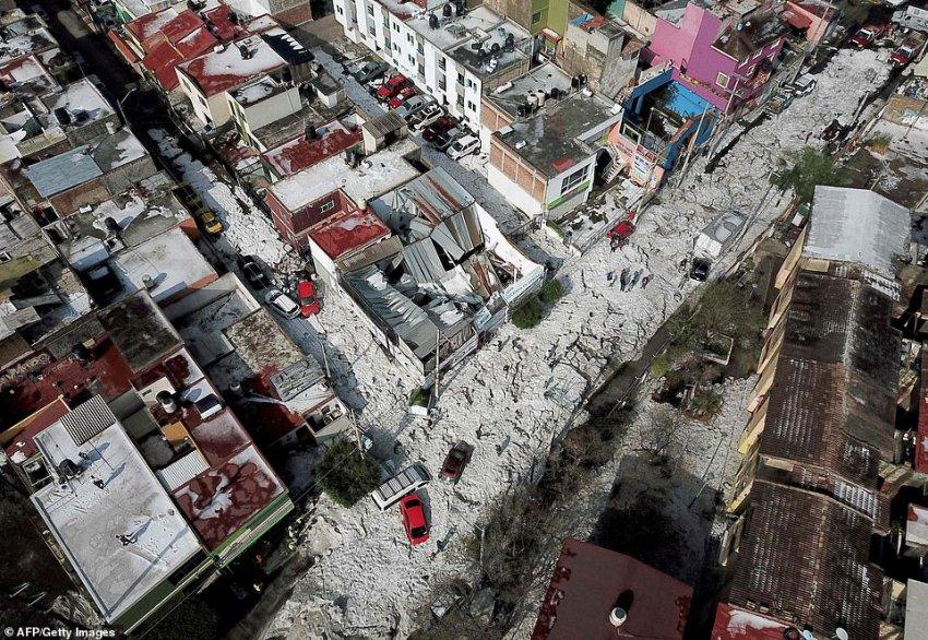 Впервые в истории город Гвадалахара в Мексике завалило градом - Paranormal-news.ru