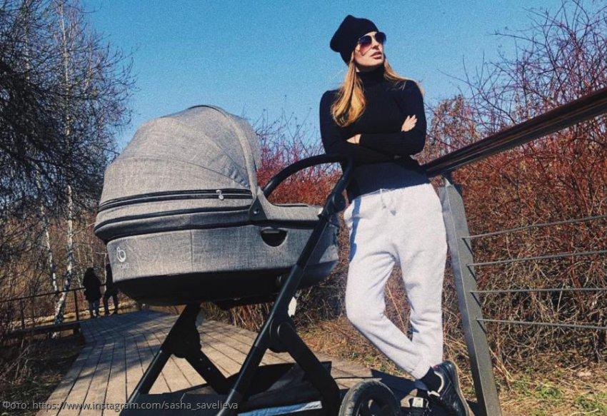 Саша Савельева занялась спортом спустя 4 месяца после родов
