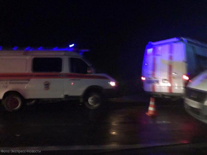 Лобовое столкновение стало причиной масштабной пробки на въезде в Кисловодск