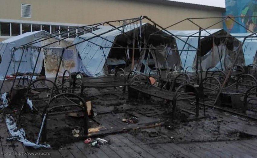 В Хабаровском крае сгорел детский палаточный лагерь, есть жертвы
