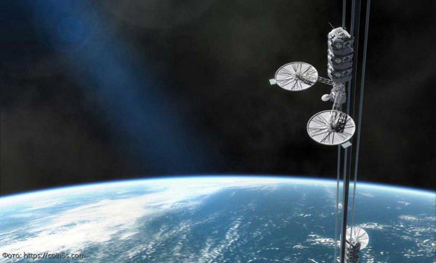 Космический лифт с Луны на Землю