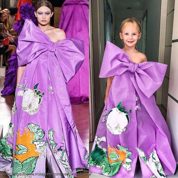 Мать и дочь прославились, создавая наряды звезд из подручных материалов