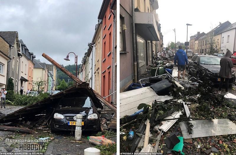 По Люксембургу пронесся смерч, срывая крыши с домов | Стихийные бедствия | Паранормальные новости