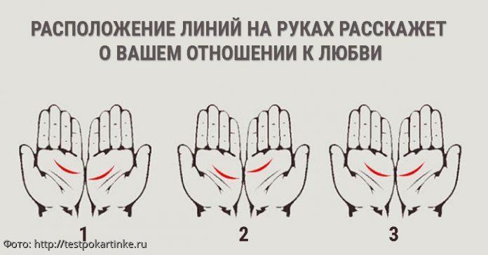 Расположение линий на руках расскажет о вашем отношении к любви