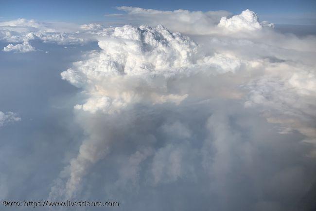 Над Вашингтоном замечено «огненное облако», напоминающее инопланетную структуру