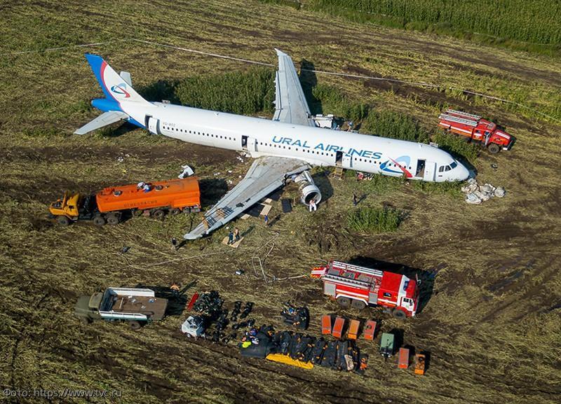Фраза бортпроводника Airbus A321, аварийно севшего в кукурузном поле, увековечена на футболках