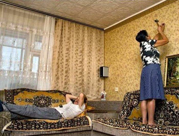 Диван, газета, телевизор: как превратить мужа-лентяя в хозяина в доме