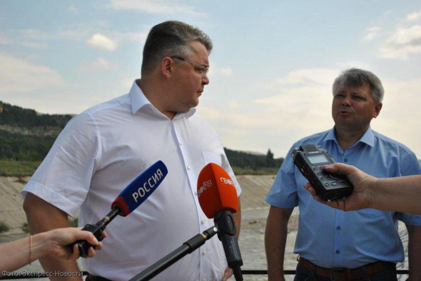 Губернатор Ставрополья Владимир Владимиров осмотрел берегоукрепительные работы в Кисловодске