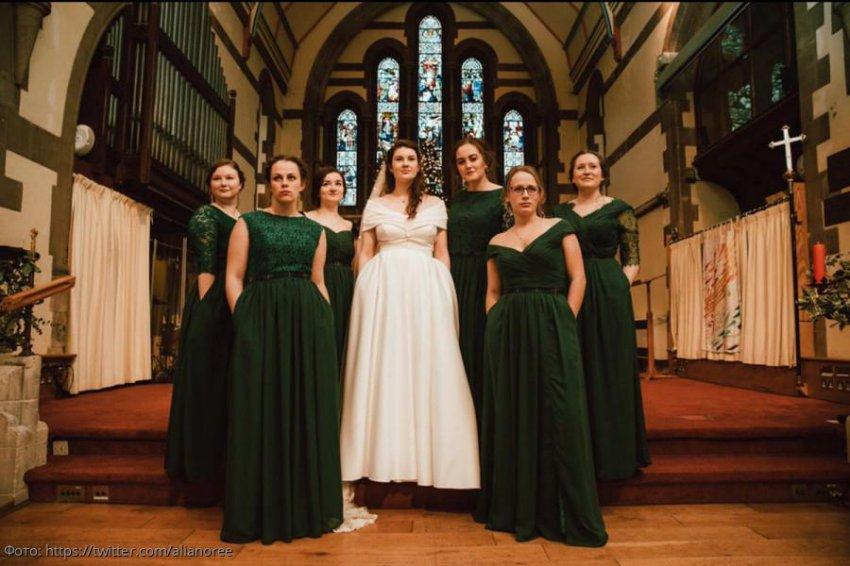 Наличие карманов превратило обычное свадебное платье в шедевр