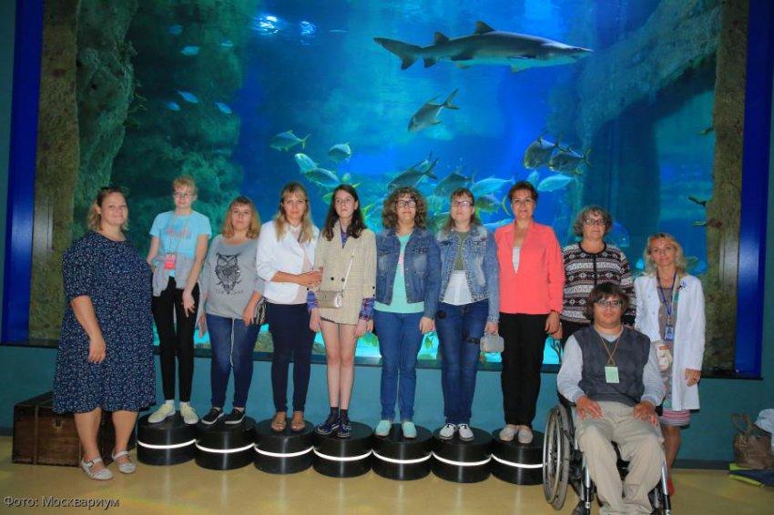 Участники фестиваля «Жизнь безграничных возможностей» посетили «Москвариум» на ВДНХ