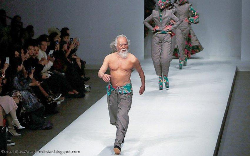 80-летний китаец Ван Дешунь покоряет дизайнерские подиумы страны