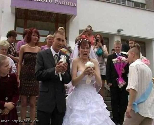 10 нелепых свадебных фото