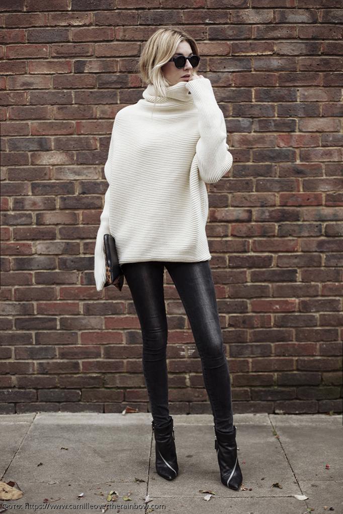 Объемный свитер: главная вещь осеннего гардероба любой модницы