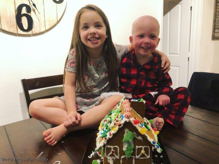 5-летняя сестра выходила больного лейкемией младшего братика, и теперь они снова вместе