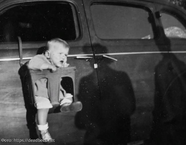 Пять очень странных фото детских автокресел прошлого века