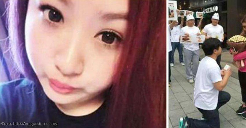 Китаец раскормил свою девушку из-за ревности