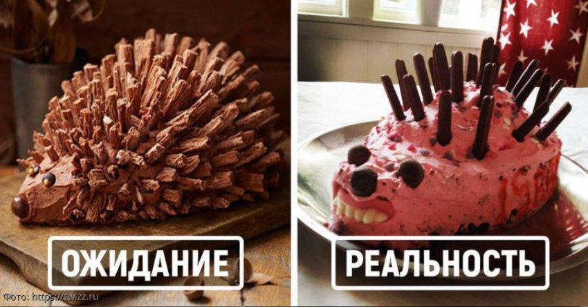 Ожидание и реальность: 10 самых неудачных тортов на день рождения