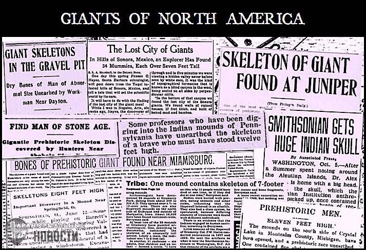 Выдумка или случайно просочившаяся секретная информация: Статьи о находке гигантских скелетов из американских газет