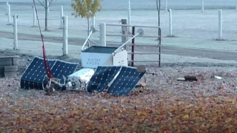 В Мичигане упал спутник: к счастью, никто не пострадал