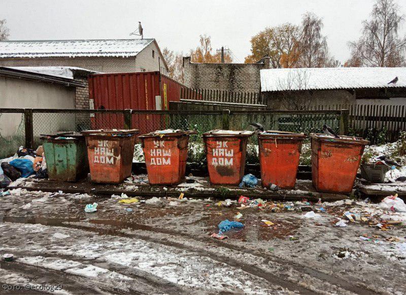 Война за мусорные контейнеры в Онеге