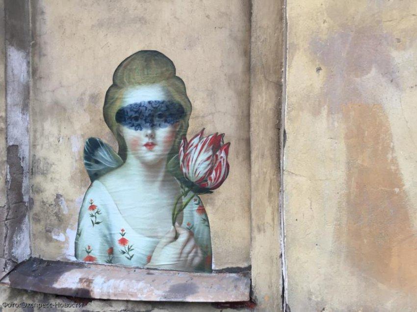 Стрит-арт украсил одну из улиц Санкт-Петербурга