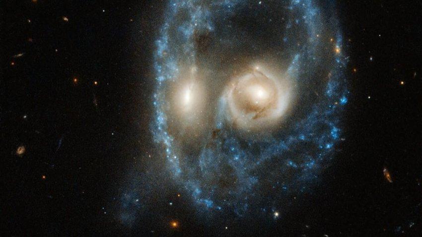 Телескоп «Хаббл» запечатлел огромное «жуткое лицо»