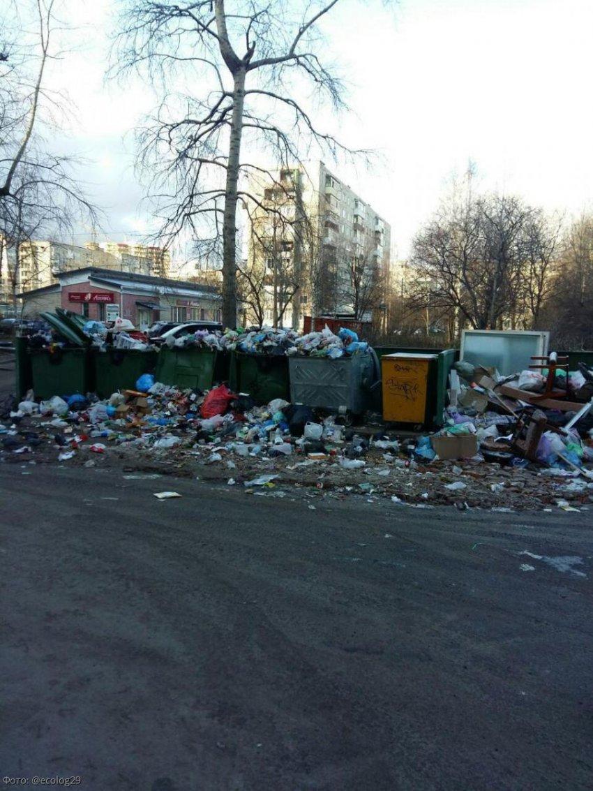В Архангельске назрела сложная «мусорная ситуация»