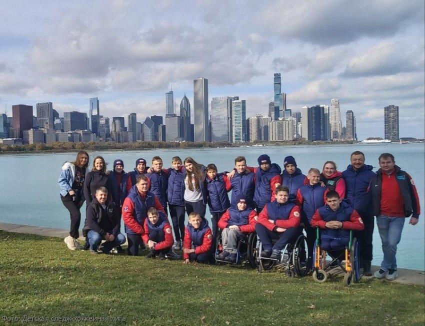 Детская сборная России по следж-хоккею привезла «серебро» с престижного турнира в США