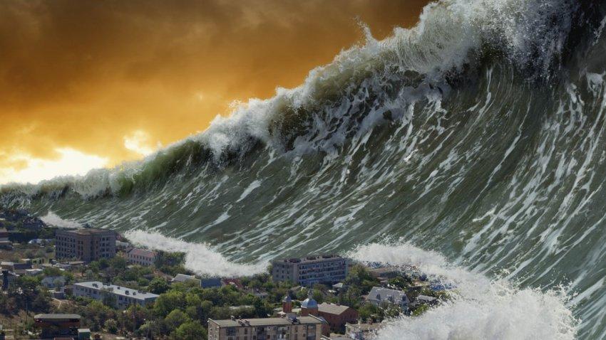 В прошлом на Индонезию обрушилось стометровое цунами