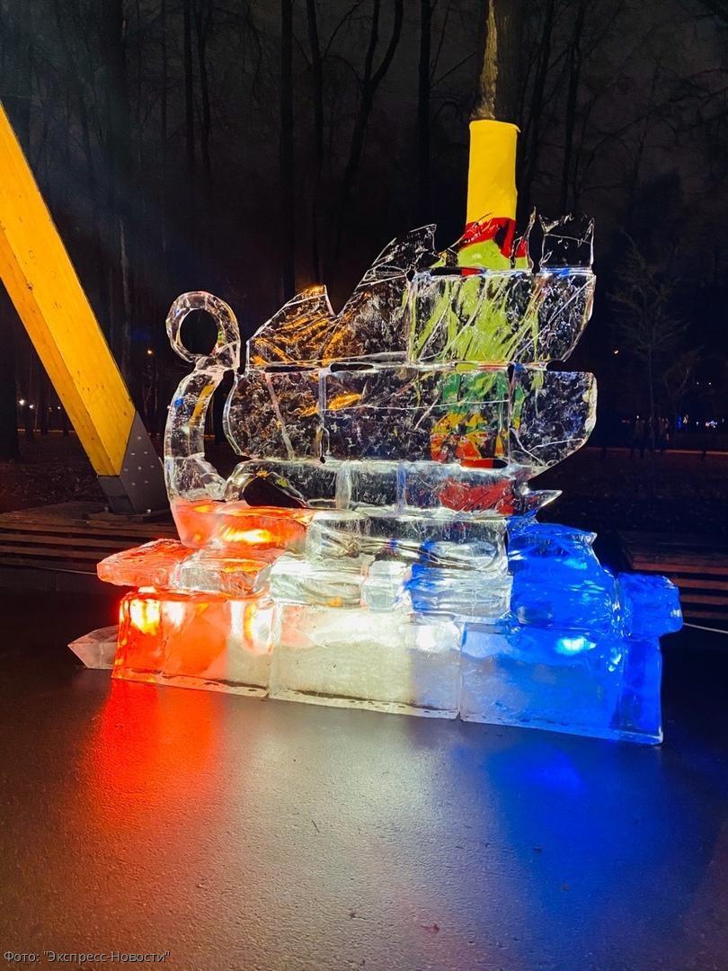 Фестиваль ледяных и снежных скульптур города Харбина в Москве