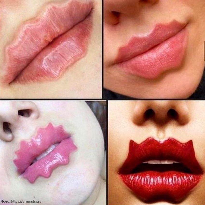 Креативный тренд бьюти-индустрии «губы-дьявола» пришел на смену обычному увеличению губ