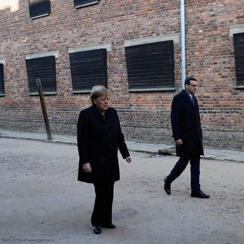 Меркель впервые за время пребывания на посту канцлера посетила концлагерь Аушвиц-Биркенау