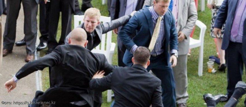 Жених на свадьбе устроил драку и поставил фингал молодой супруге