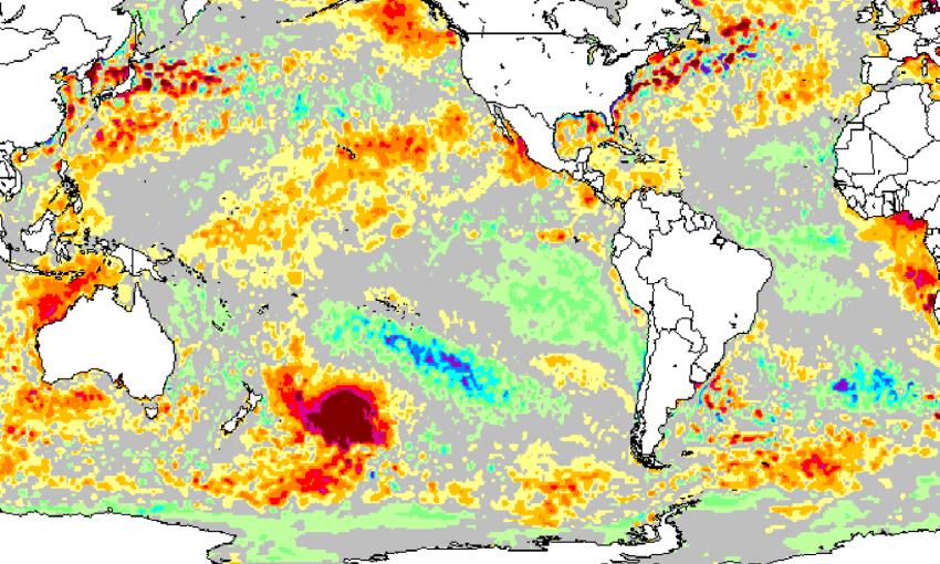 Ученых озадачил огромный участок теплой воды у побережья Новой Зеландии