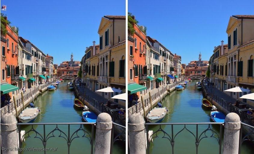 Разминка для мозгов: найди в картинках с изображением Венеции 5 отличий