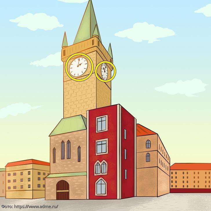 Тест на внимательность: посмотрите на картинку с городской площадью и определите, что на ней не так