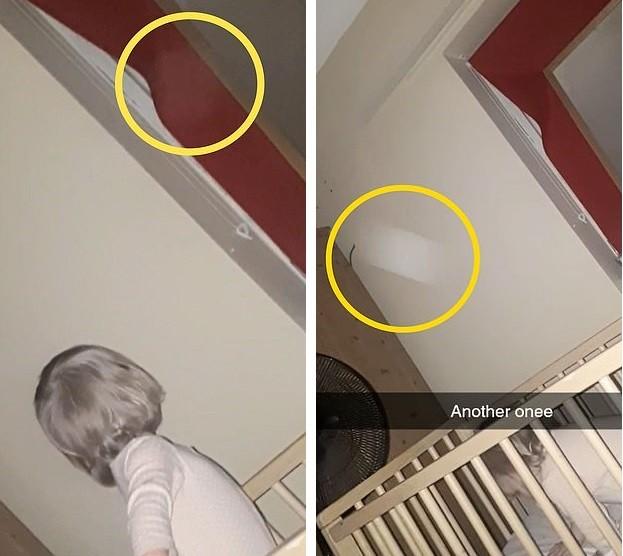 Женщина снимала на видео, как ее дочь говорит с невидимкой, и увидела летающие орбы