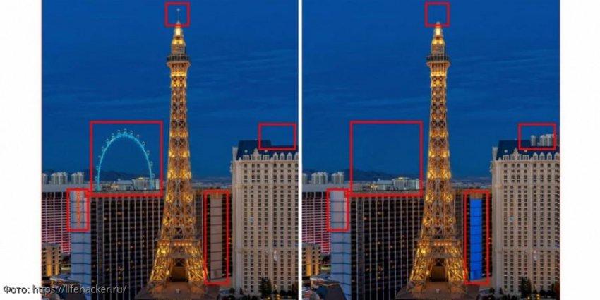 Разминка для мозгов: найди в картинках с башней 5 отличий
