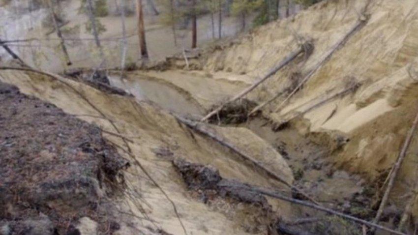 В Якутии образовались огромные провалы в земле