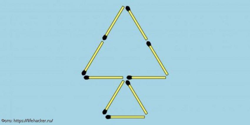 Тест на сообразительность: переложите две спички так, чтобы из дерева получилась рыбка