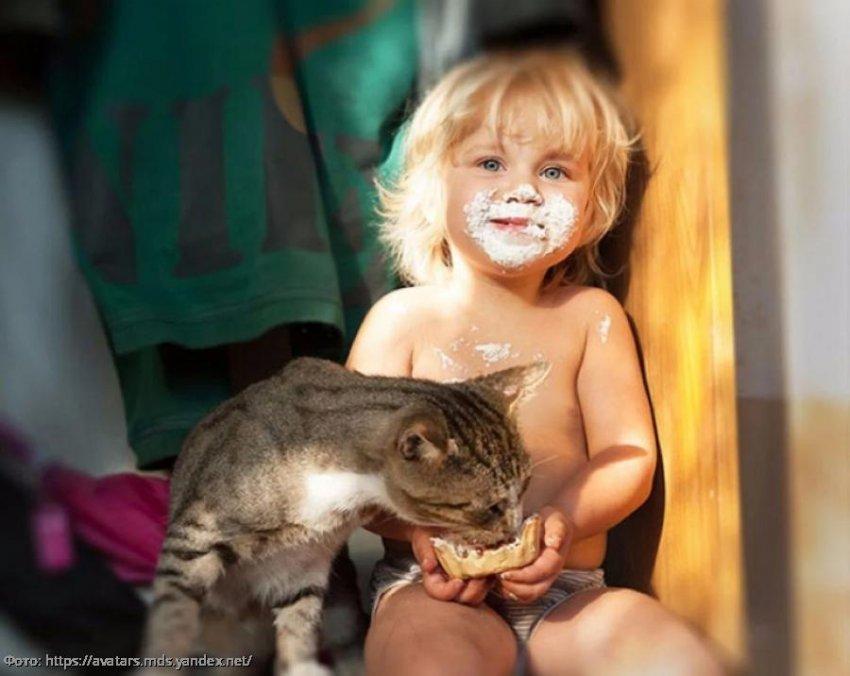 Прикольные фото, которые покажут, что маленькие дети и животные - одного поля ягоды