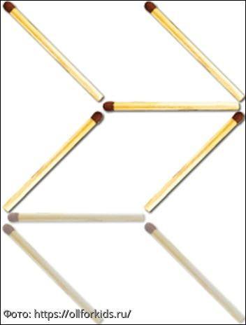 Тест на сообразительность: нужно так переложить 3 спички, чтобы стрела поменяла направление на противоположное