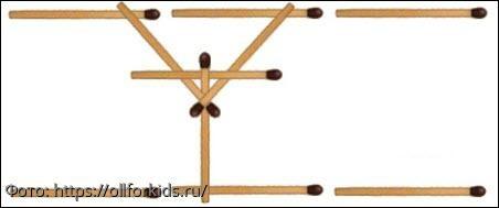 """Тест на сообразительность: добавьте 4 спички так, чтобы мост через """"пропасть"""" был надёжным и прочным"""
