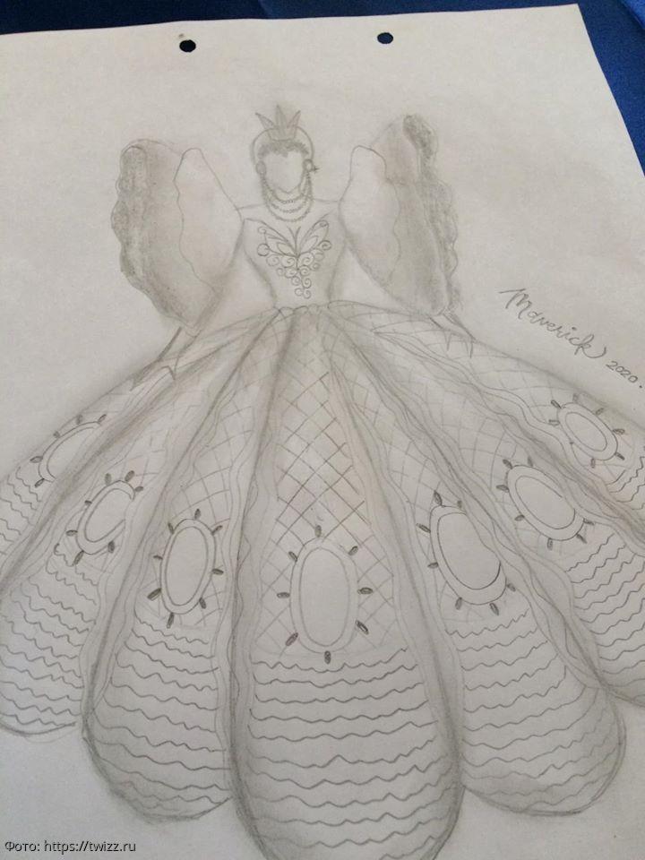 Родители не могли купить дочке на выпускной платье, и тогда наряд сшил ее брат – вышло шикарно
